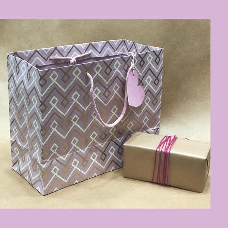 Handmade Screen Printed Gift Bag