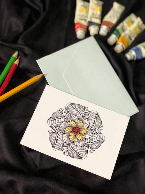 DIY Mandala Notecard Set (Set of 5)