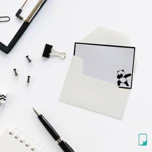 Panda Emoji Notecard Set