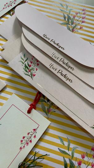 Personalised Floral Money Envelopes