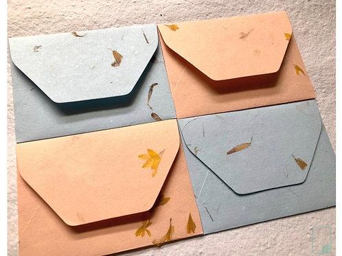 Flower Pressed Handmade Envelopes(Set of 5)