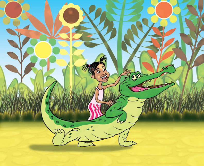 Makaylah And Crocodile