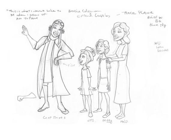Bessie Coleman Sketch