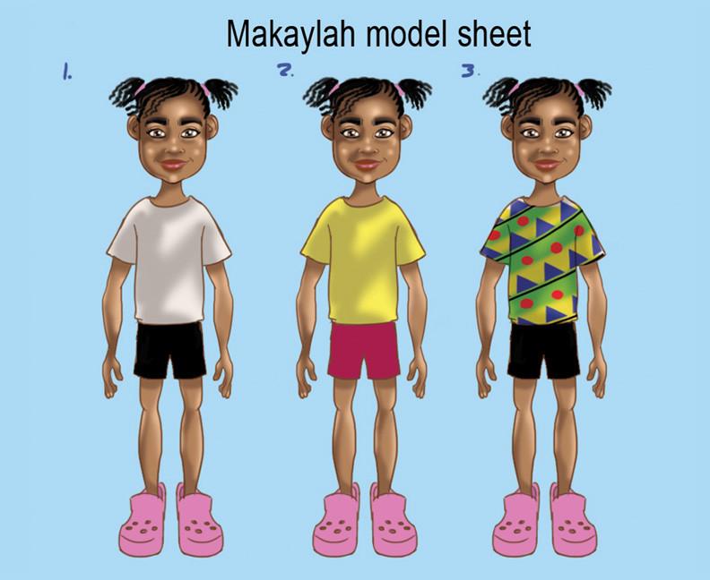 Makaylah Model Sheet