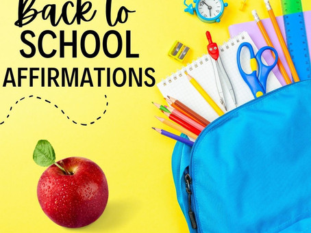 Affirmations for the new school year