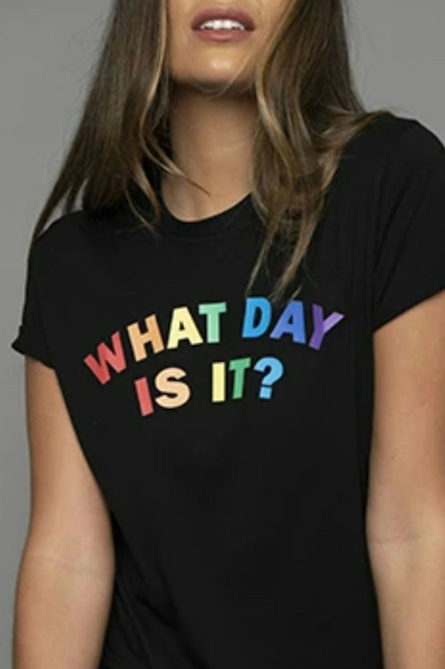 Black what day is it tee by James Steward