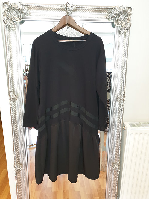Black sweat shirt dress
