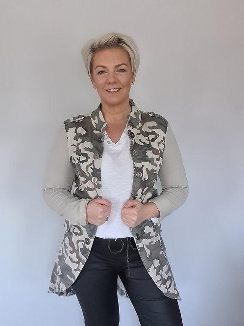 Longline military jacket by Suzy D London