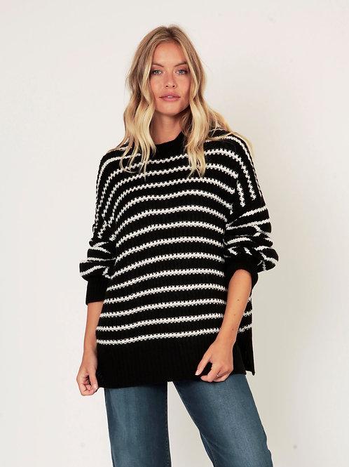 Black chunky knit jumper by Suzy D