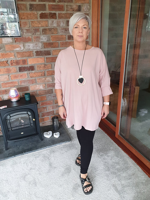 Pink angel wing tunic.