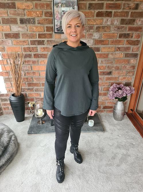 Grey lightweight hoodie by Suzy D
