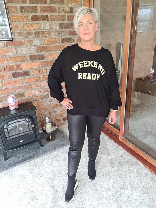 Black weekend ready top by Sundae Tee