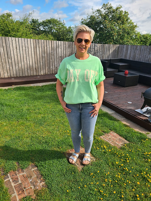 Lime green oversized t shirt by Sundae Tee