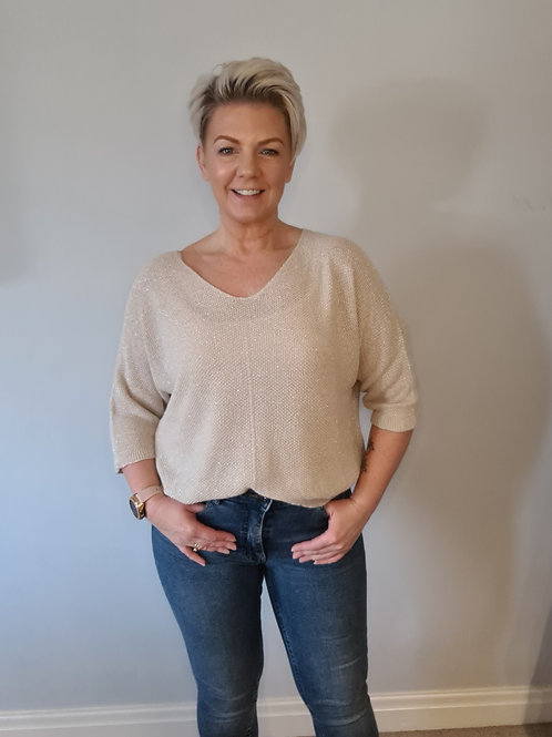 Nude sparkle top by Suzy D London
