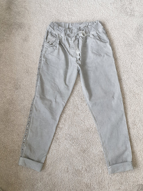 Grey soft feel denim jogger