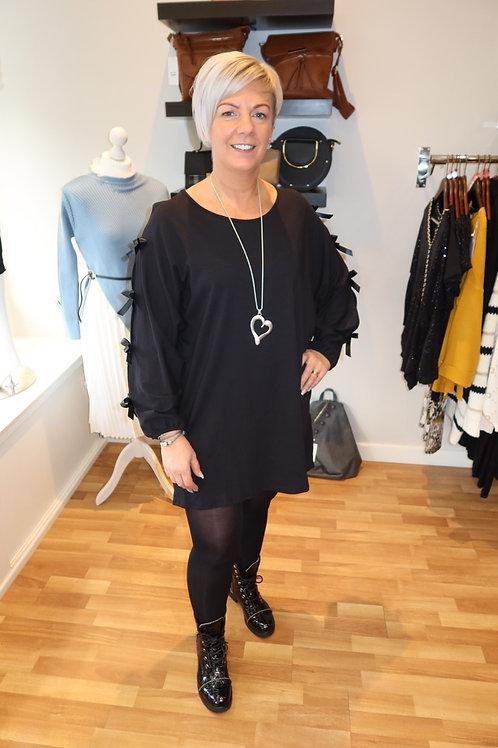 Black Detailed Jumper Dress