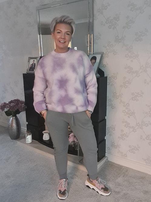 Lilac tye dye jumper by Libby Loves