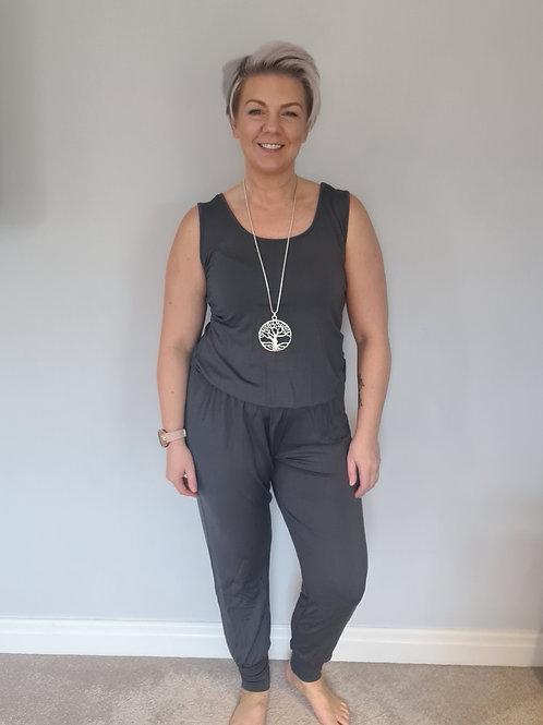 Grey jumpsuit by Suzy D London