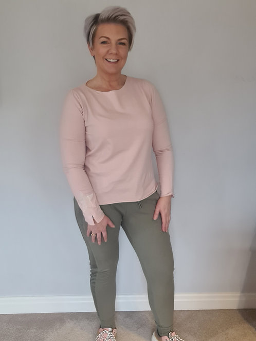 Pink star sleeve top by Suzy D London