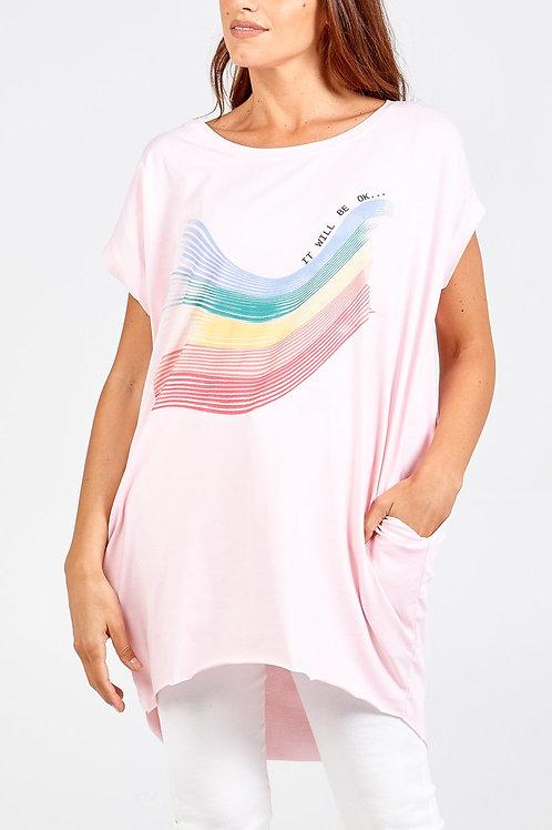Pink rainbow tunic