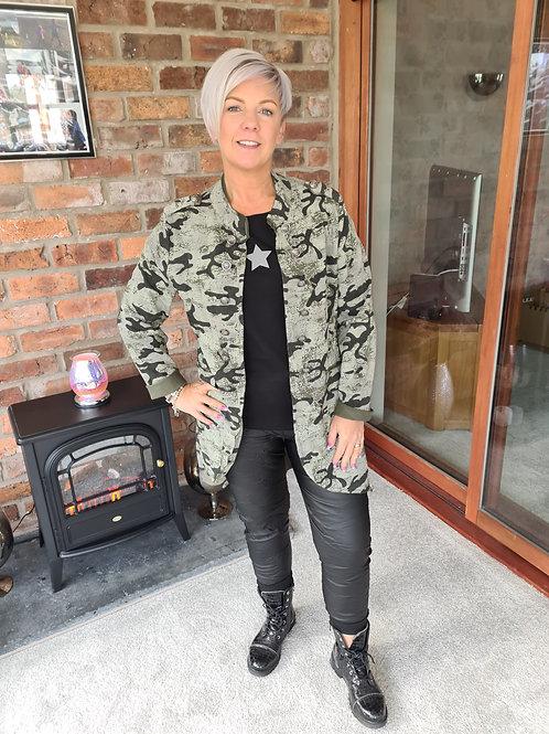 Camauflage military style  jacket
