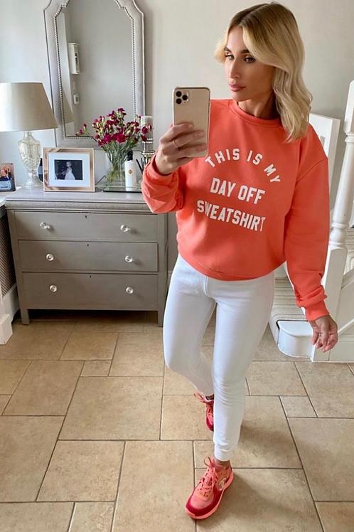 Orange day off sweatshirt by My Nelly