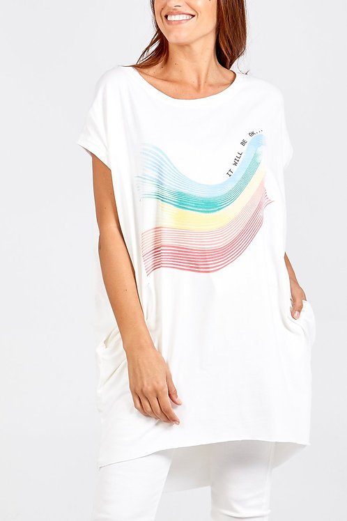 White rainbow tunic