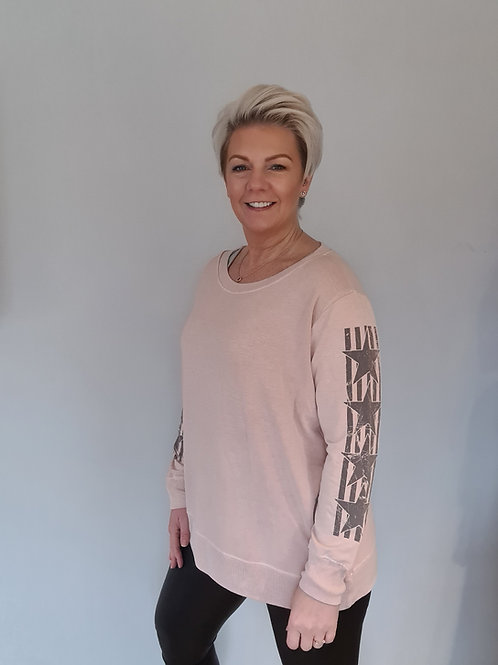 Blush star stripe top by A Postcard from Brighton