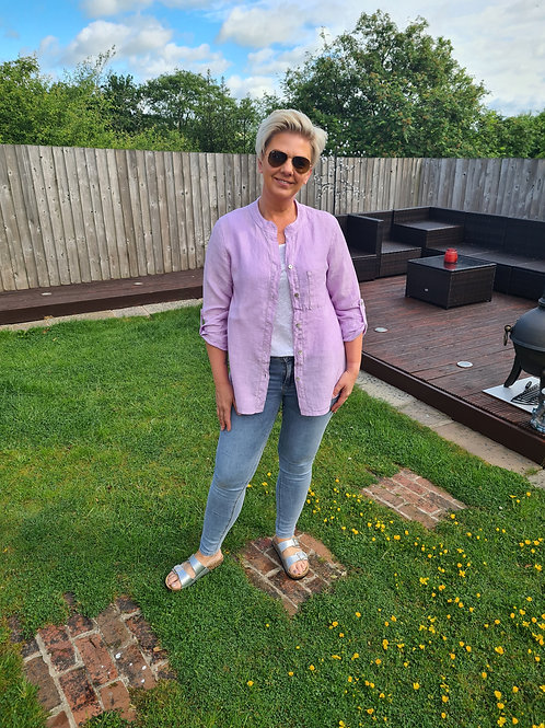 Lilac button shirt by Suzy D London