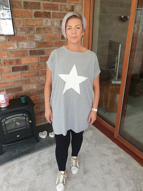 Grey star tunic