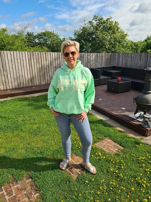 Lime green hoodie by Sundae Tee