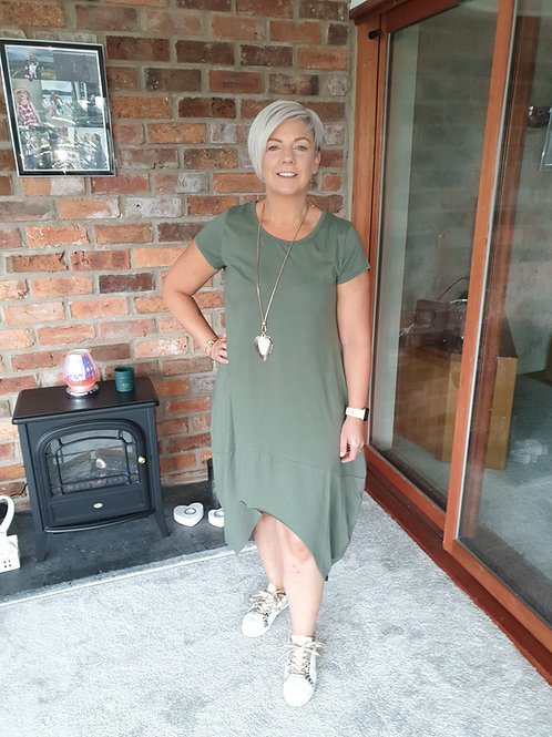 Khaki hi lo dress
