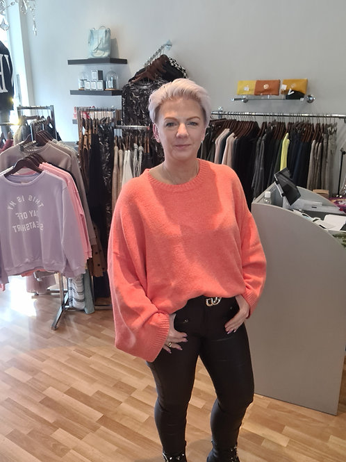 Orange wide sleeve jumper by Suzy D