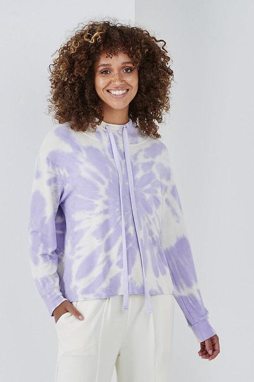 Lilac tye dye hoodie by Sundae Tee