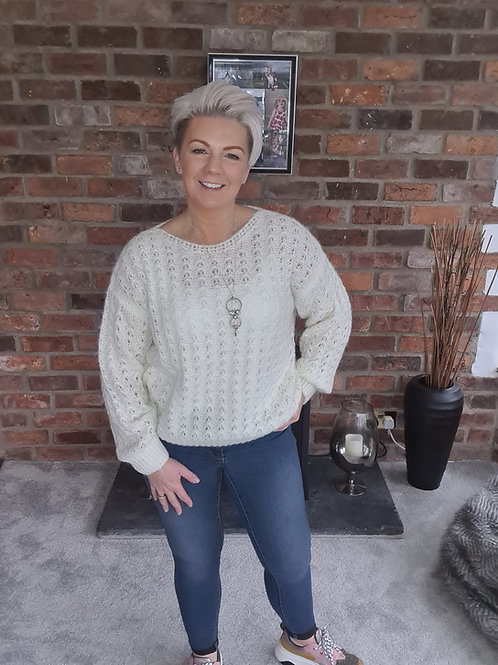 Cosy cream knit