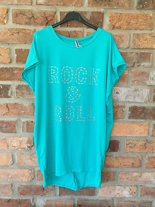 Turquoise rock and roll tunic