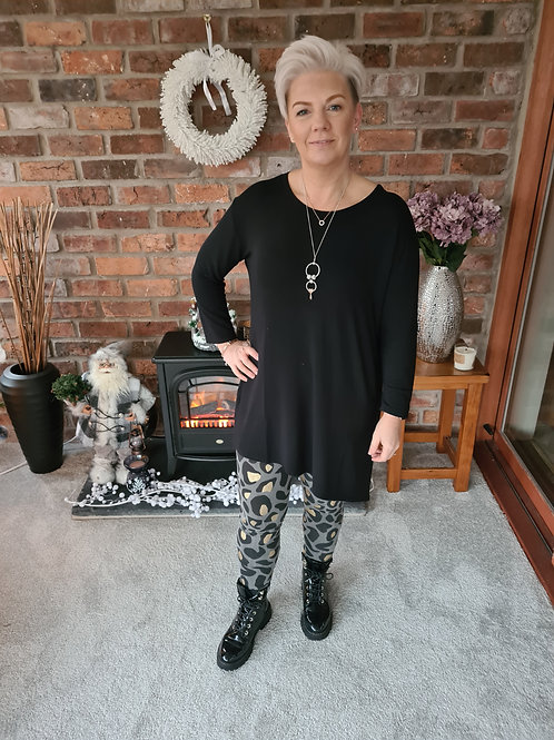 Grey and gold animal print leggins be A Postcard from Brighton