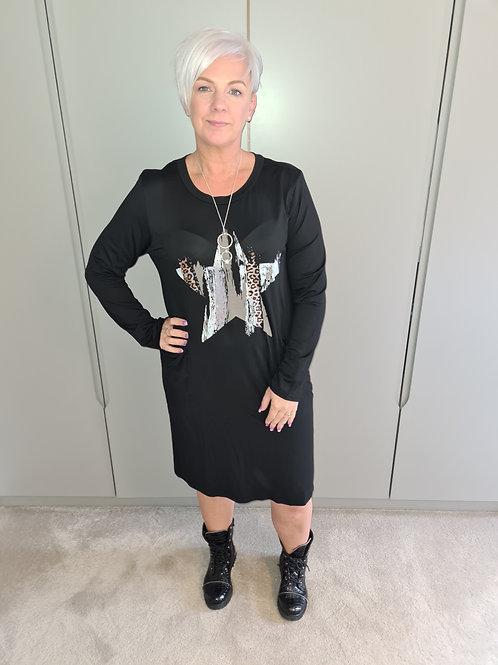 Black star tunic dress