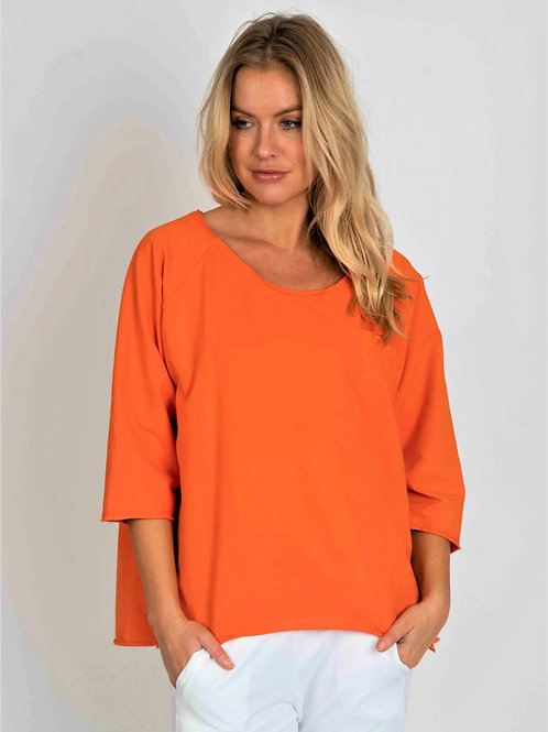 Orange sweatshirt with pocket by Suzy D