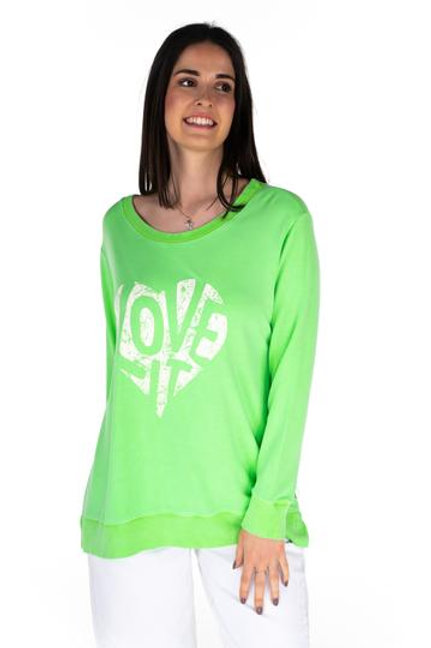 Lime green lightweight sweat by A Postcard from Brighton