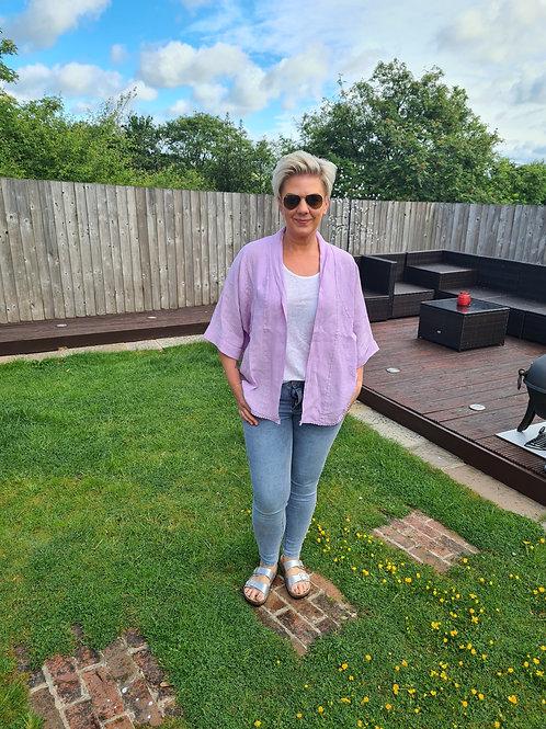 Lilac linen jacket by Suzy D London