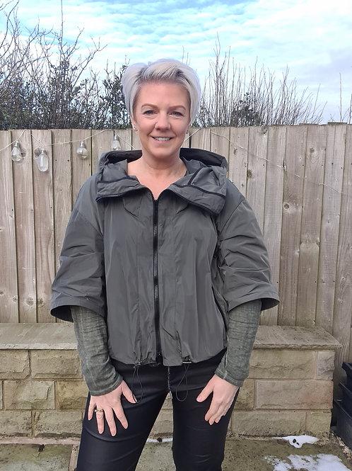Khaki rain jacket by Suzy D London