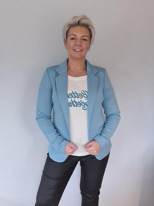 Blue casual blazer by ICHI