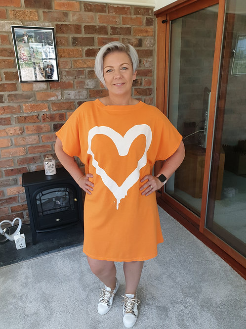 Orange t shirt dress
