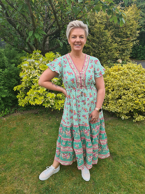 Mint green meadow dress by Libby Loves