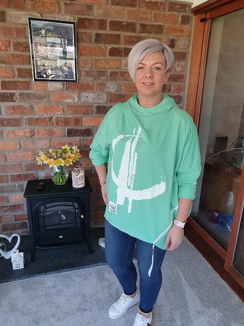 Green oversize hoodie