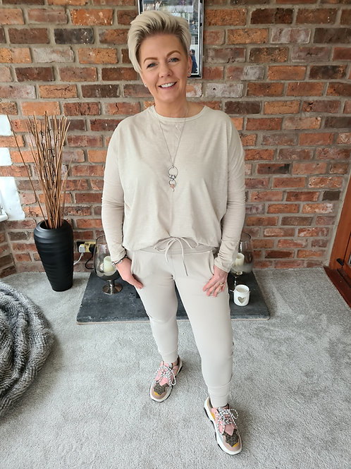 Cream ultimate joggers by Suzy D London