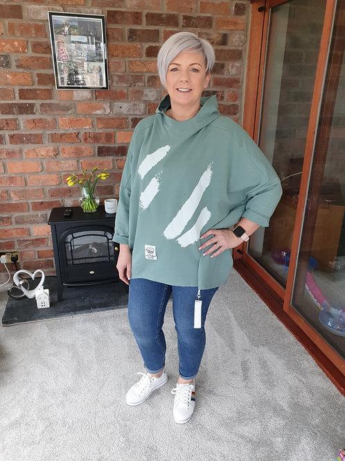 Khaki oversize hoodie