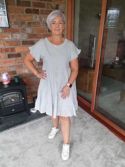 Grey tier dress