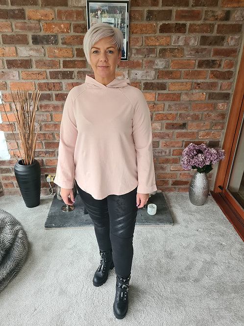 Pink lightweight hoodie by Suzy D